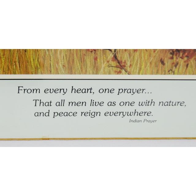 Native American Vintage Native American Indian Print by Julie Kramer Cole Indian Prayer For Sale - Image 3 of 5