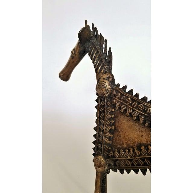 1960s 1960s Vintage Brutalist Solid Brass Horse Sculpture For Sale - Image 5 of 13