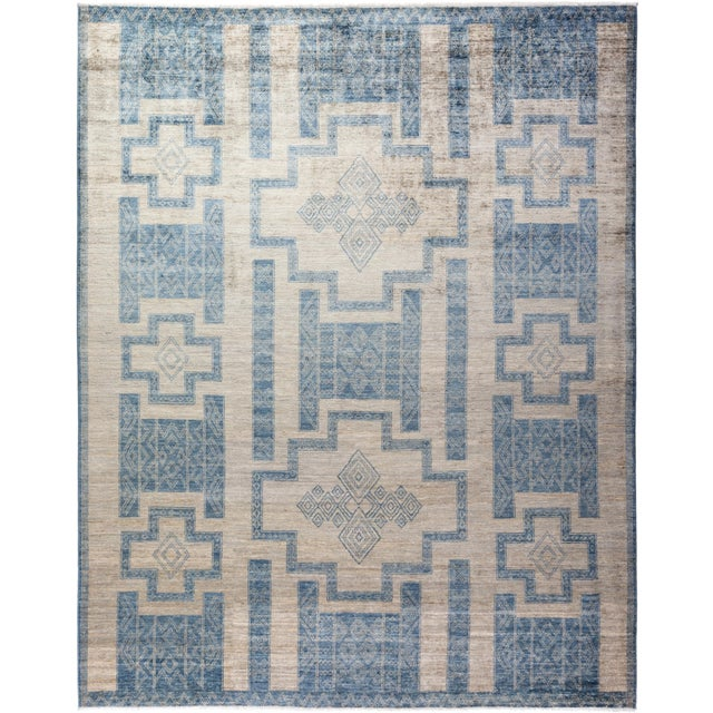 """Bohemian Hand-Knotted Area Rug 7' 10"""" x 10' 0"""" For Sale - Image 9 of 9"""