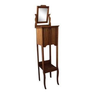 Primitive Oak Shaving Stand For Sale