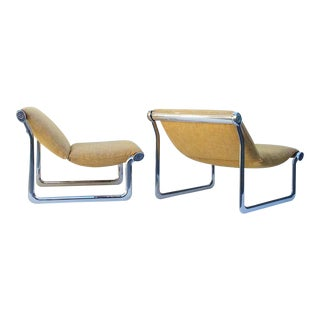 Polished Aluminum Lounge Chairs by Hannah Morrison - A Pair For Sale