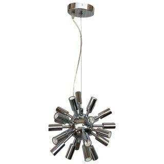 Midcentury Sputnik Chandelier Light Fixture in Polished Chrome, 1960s For Sale
