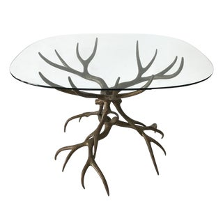 Arthur Court Cast Bronze Antler Table