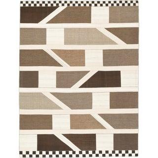 Mid 20th Century Vintage Kilim Composition Rug- 9′1″ × 11′8″ For Sale