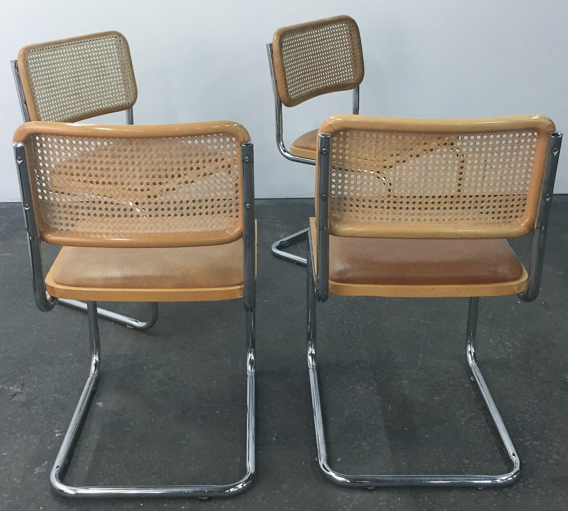 Vintage Breuer Cesca Style Chrome U0026 Cane Chairs   Set Of 4   Image 4 Of