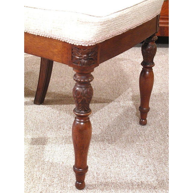 19th Century French Walnut Square Back Chairs - a Pair - Image 5 of 9