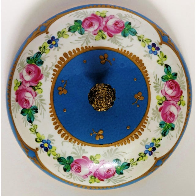 Antique French Gilt Bronze & Porcelain Sevres Jewelry Box / Potpourri For Sale - Image 10 of 13