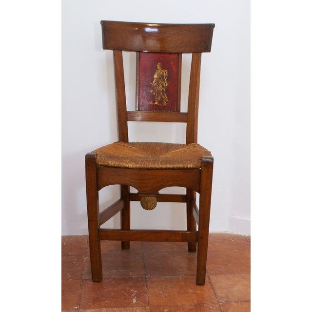 Early 19th Century 19th Century Painted Italian Side Chairs - A Pair For Sale - Image 5 of 9