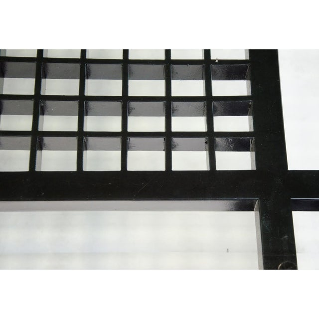 Contemporary Glass Inset Lattice Form Coffee Table For Sale - Image 9 of 11