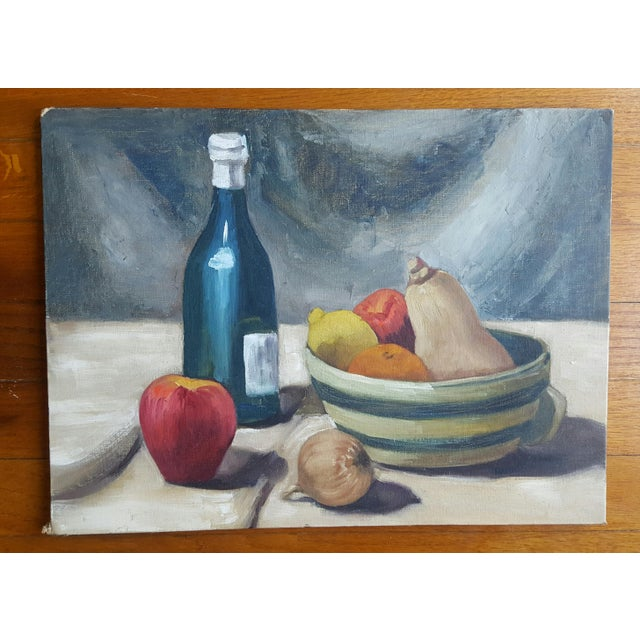 Market found, I love the classic simple nature of this oil on canvas board by artist, Shirley M. Smith, originally signed...