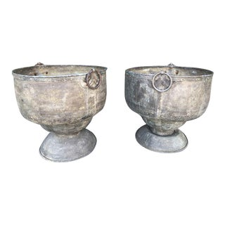Mid Century Modern Brass Plant Stands - a Pair For Sale