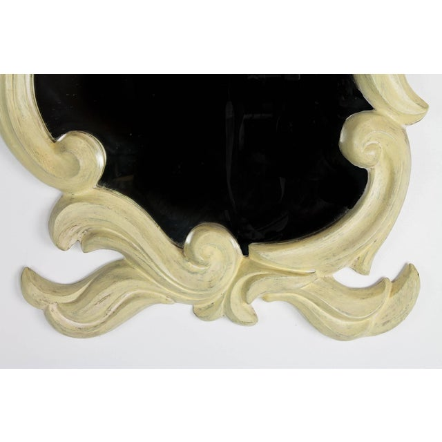 Hollywood Regency French Molded Plaster Mirror, 1940s For Sale - Image 3 of 7