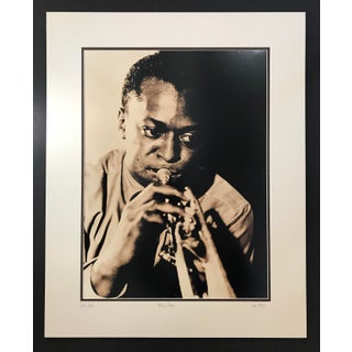 1950 Miles Davis Sepia Toned Photographic Print Framed For Sale