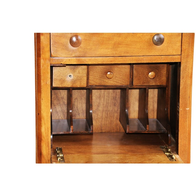 Fruitwood American Fruitwood-Walnut Secretaries - A Pair For Sale - Image 7 of 8