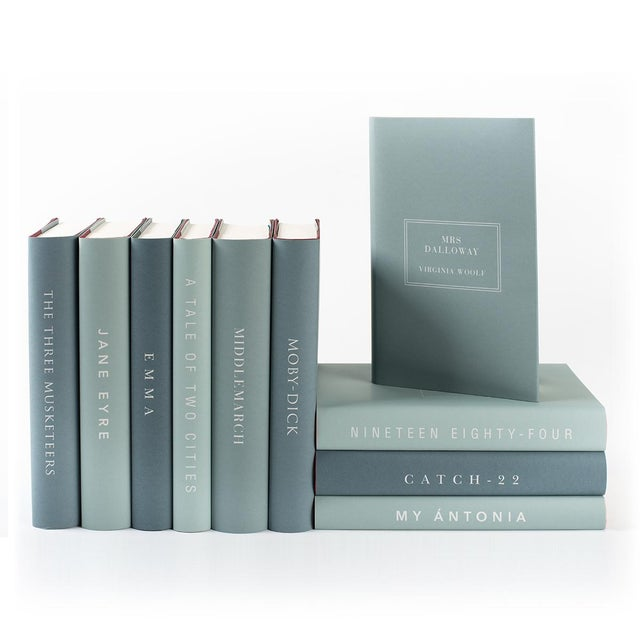 Paper The Modern Classics Book Collection - Set of 10 in Greens For Sale - Image 7 of 7