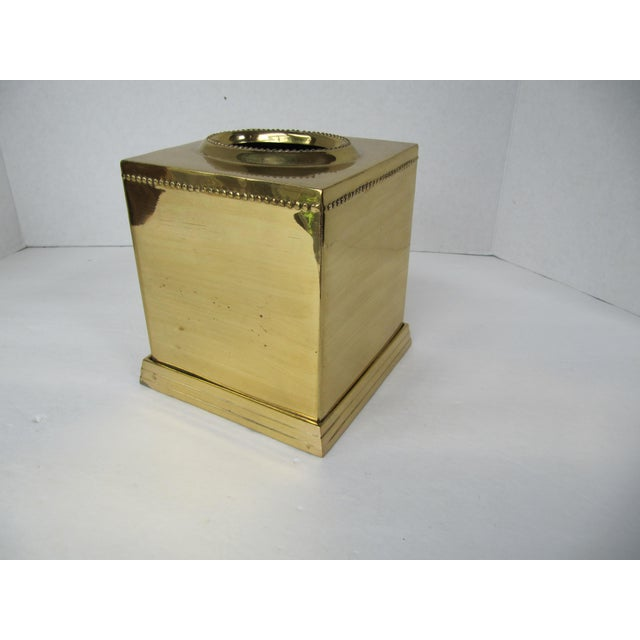 Brass Tissue Box Holder For Sale - Image 4 of 5