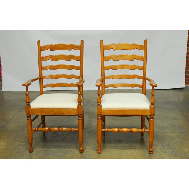 English Ladder Back Dining Chairs - Set of 8 - Image 10 of 10