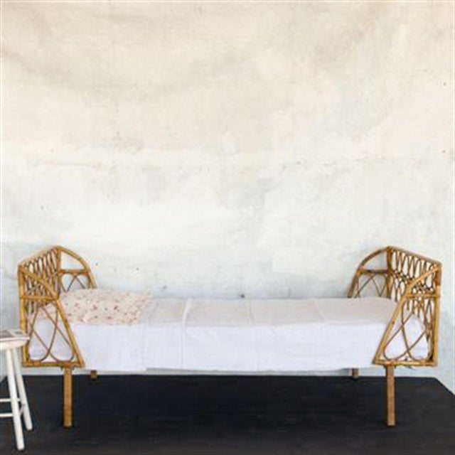 French Vintage Bamboo Daybed For Sale - Image 3 of 3