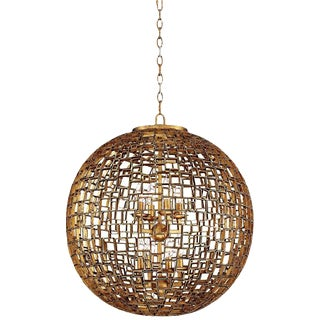 Contemporary Modern Abbondanza Metal Sphere Lamp For Sale