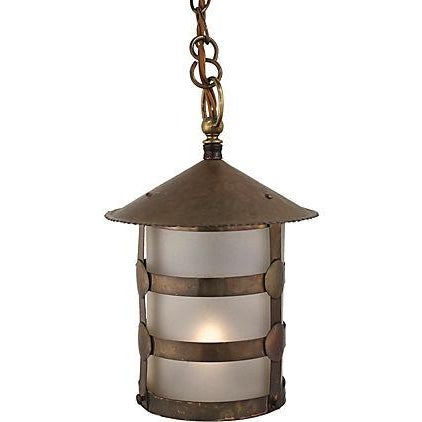 Antique Arts & Crafts Brass Lamp - Image 1 of 5