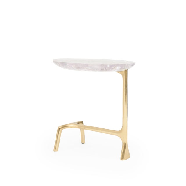 Amethyst Uovo Side Table (Ice-Cracked Resin) by Sylvan San Francisco For Sale - Image 8 of 8