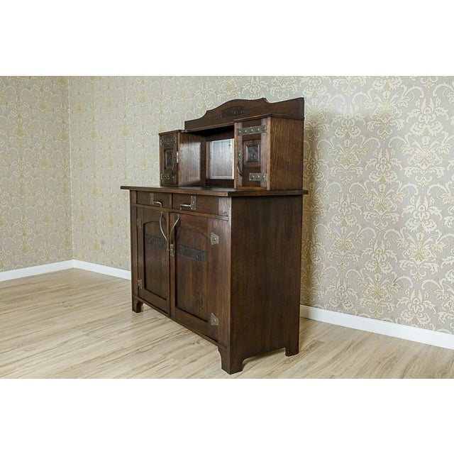 Early 20th Century Art Nouveau Oak Dining Room Set, circa 1910-1920 For Sale - Image 5 of 13