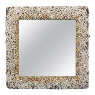 Coral and Seashell Mirror For Sale