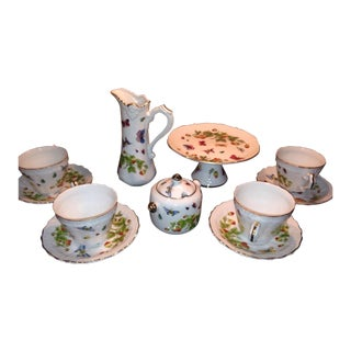 Royal Crown Butterflies Strawberries Spring Time Tea Set For Sale