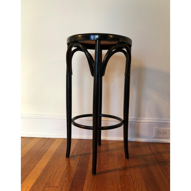 Mid 20th Century Talian Antique Bentwood and Cane Cafe Stool For Sale - Image 5 of 10