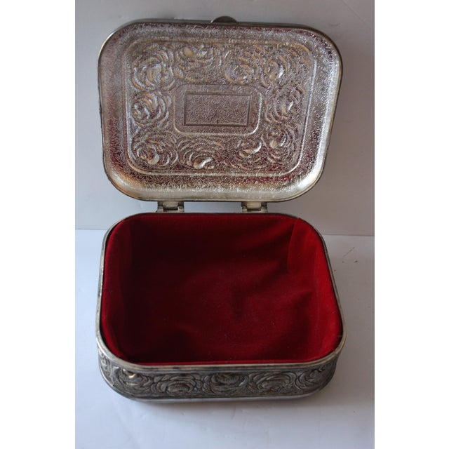 Vintage Silverplate Jewelry Box - Image 3 of 4
