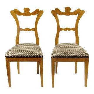 19th-Century Antique Biedermeier Side Chairs - a Pair For Sale