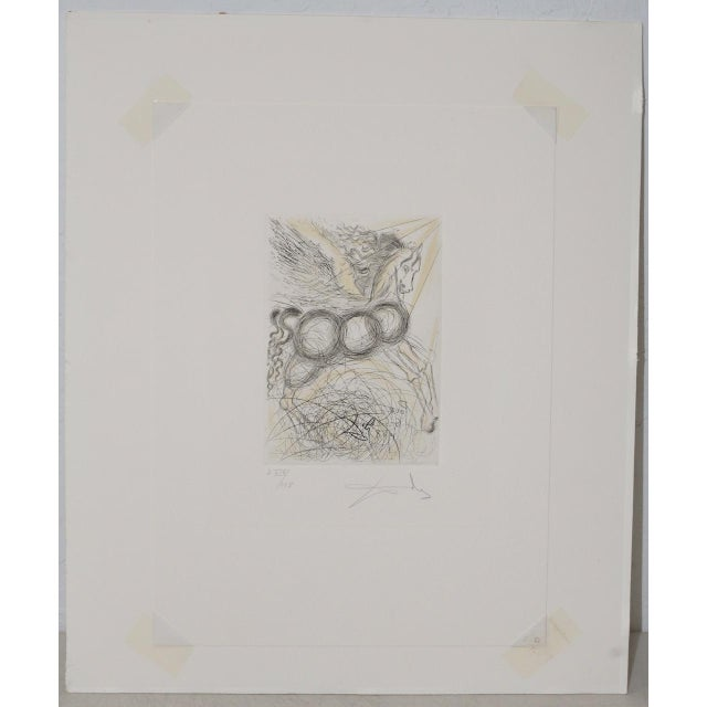 """Salvador Dali """"Pegasus"""" Reverse Plate Signed Etching c.1970s Fine vintage etching. The etching is plate signed and was..."""