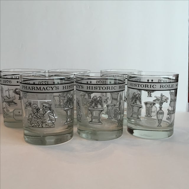 Pharmacy Cocktail Glasses - Set of 6 For Sale - Image 4 of 11