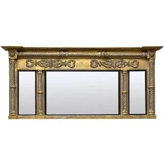 English Regency Overmantel Mirror For Sale