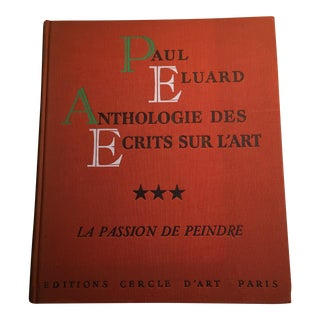 1954 Eluard Anthologie Des Ecrits Sur l'Art Volume 3 Book For Sale
