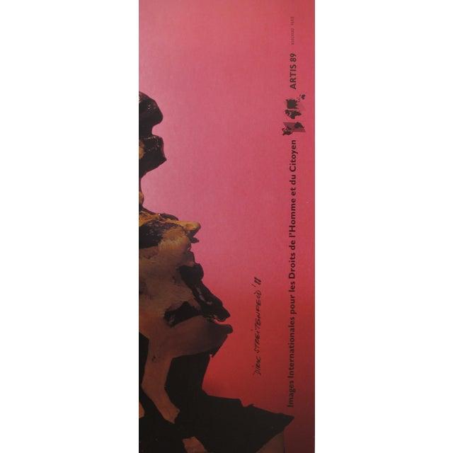 Contemporary 1989 Original Poster for Artis 89's Images Internationales Pour Les Droits De l'Homme Et Du Citoyen - Marianne For Sale - Image 3 of 4