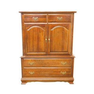 "Cresent Solid Cherry 41"" Door Chest on Chest For Sale"