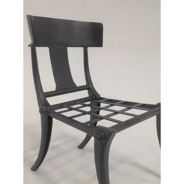 Klismos Outdoor Chair For Sale - Image 4 of 5