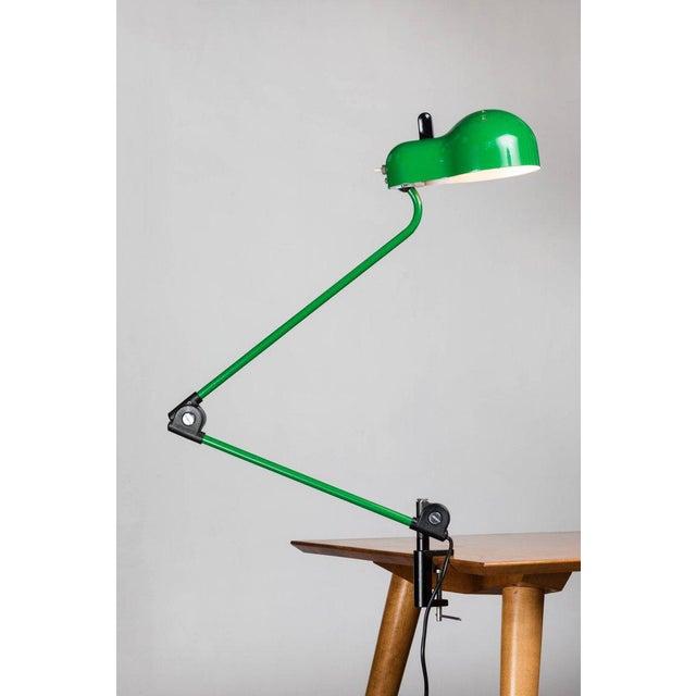 Italian 1970s Joe Colombo 'Topo' Green Task Lamp for Stilnovo For Sale - Image 3 of 9