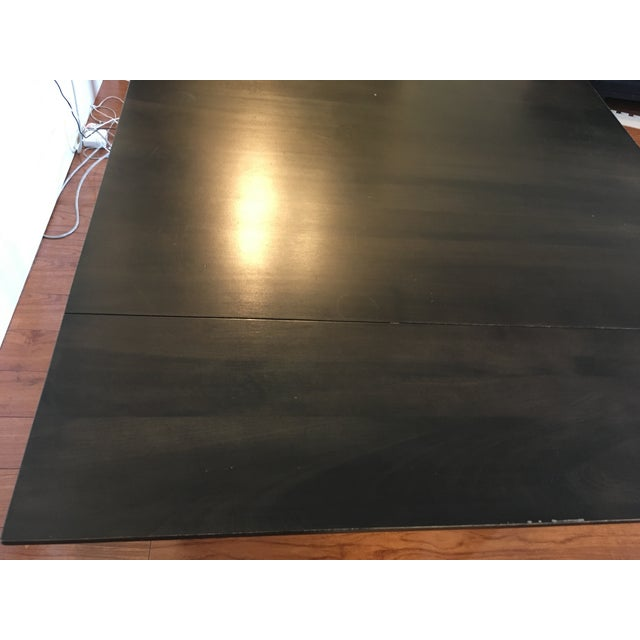 Black Room & Board Drop-Leaf Dining Table For Sale - Image 8 of 9