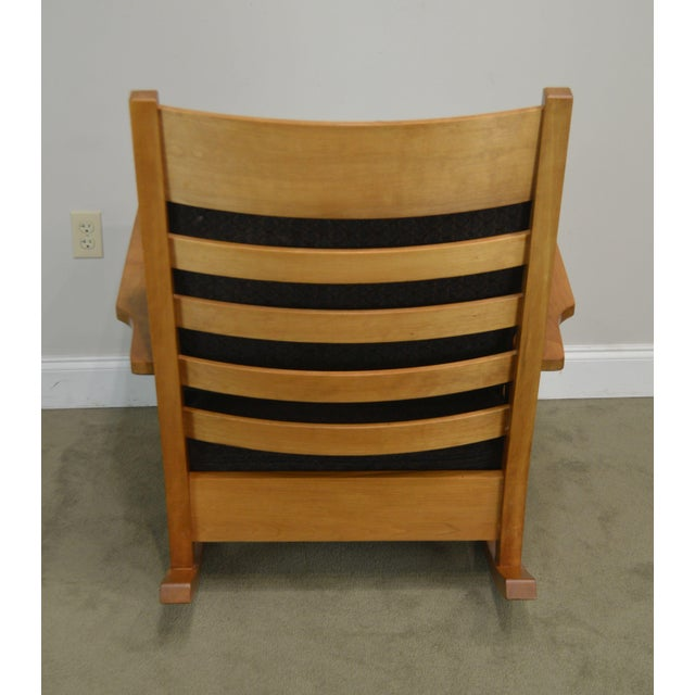 2000 - 2009 Stickley Mission Collection Solid Cherry Rocker For Sale - Image 5 of 13