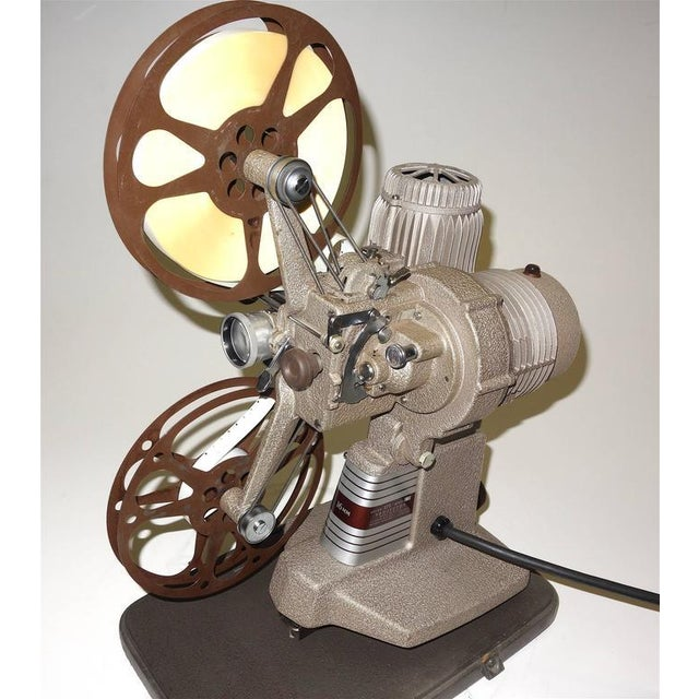 Brown 16mm Vintage Movie Projector Circa 1940. Rare Sculpture Piece For Media Room Display. For Sale - Image 8 of 8