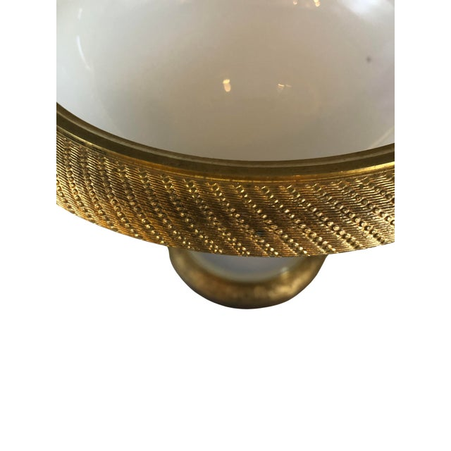 French Ormolu Gilt Opaline Compote For Sale - Image 3 of 7