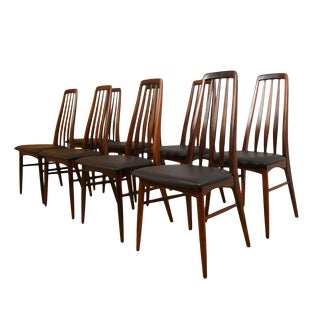 "Koefoeds Hornslet Danish Modern ""Eva"" Rosewood Dining Chairs - Set of 8 For Sale"