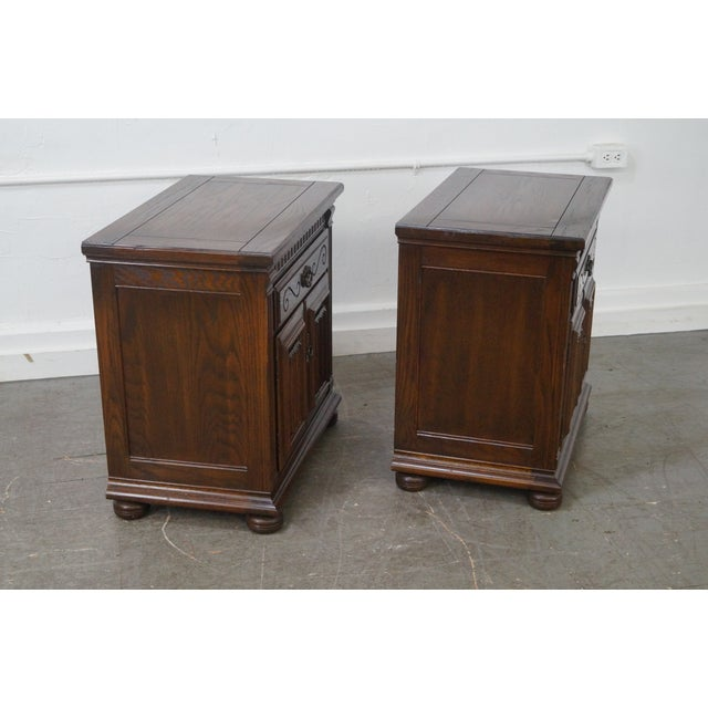 Ethan Allen Royal Charter Oak Nightstands Chests - A Pair - Image 2 of 10