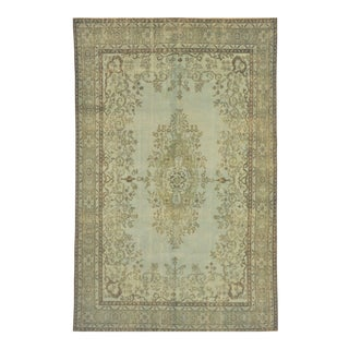 "Vintage Turkish Isparta Distressed Over-Dye Area Rug - 6'8"" X 9'11"""