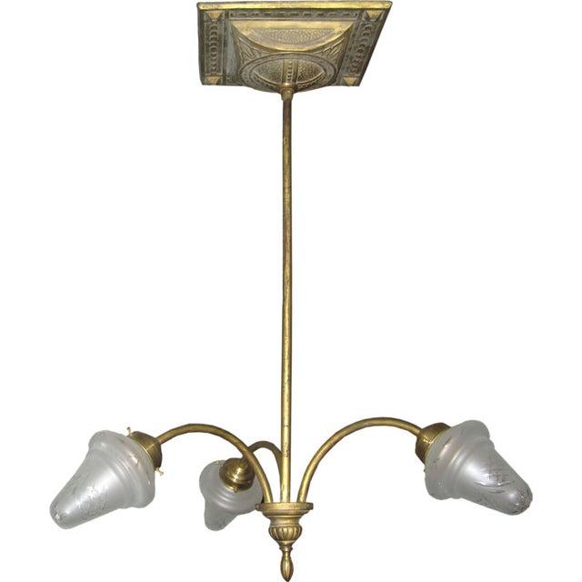 Liberty Italian Brass Chandelier For Sale