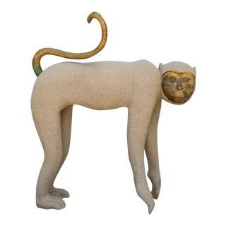1980s Decorative Monkey Floor Sculpture For Sale