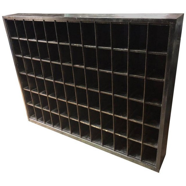 Storage Cabinet of Painted Steel as Wine Rack, Dvd, CD Storage, 72 Cubbies For Sale - Image 13 of 13