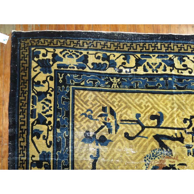 Textile Overisze Antique Chinese Rug, 13'3'' X 17'9'' For Sale - Image 7 of 13